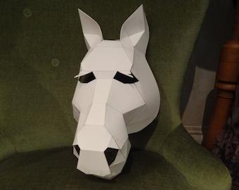 Make your own Horse mask from cardboard, Digital download, DIY mask