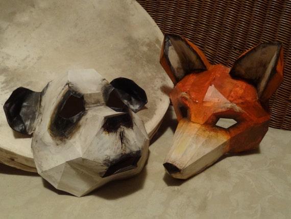 Printable Mask, DIY Halloween mask, Paper animal mask, panda mask, bear  mask, Instant Download, Printable Templates