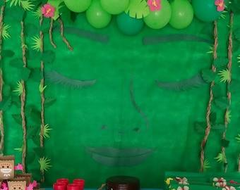 """DIY Moana Birthday Party Backdrop """"Returns the heart of Te Fiti"""""""