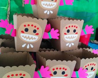 Moana Kakamoras Snack Popocorn favor DIY SVG Box