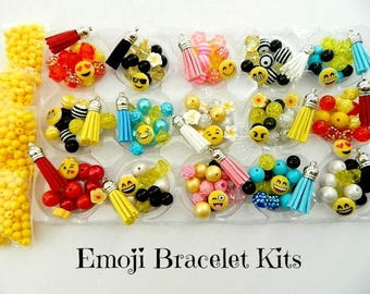 Emoji Party Favors DIY Bracelet Kits Makes 15 Bracelets