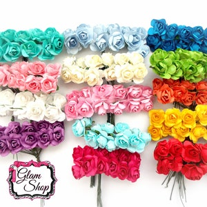 Small paper flowers etsy popular items for small paper flowers mightylinksfo