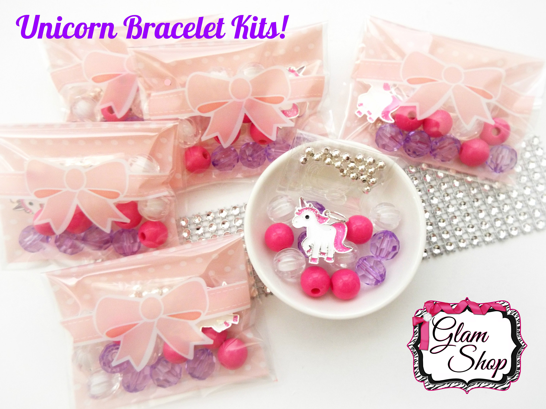 Unicorn Party Favors DIY Bracelet Kits Pick Your Quantity | Etsy
