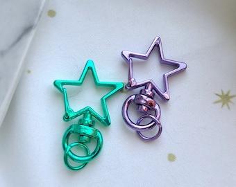 Keychain Clasps - Stars: Green || Purple