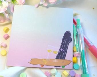 Memo Pads: Matcha Blossom