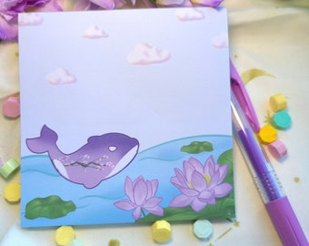 Memo Pads: Lotus Whale