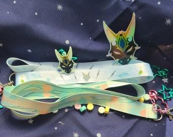 Guardian Yaksha, Xiao & Kaedahara Kazuha: Lanyard    Keychain    Holographic Sticker