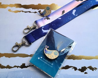 Lanyard + Pin Set: Space Whale | Sky Whale