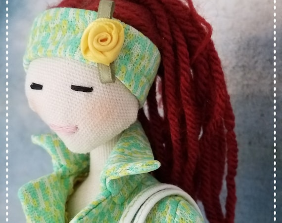 Cute chic Fabric Doll Handmade fashion doll cloth doll fun ragdoll Tilda meets Barbie bff softdoll bubulinas doll poupees Muñecas de tela
