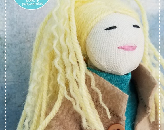 Soft Doll handmade fabric doll blonde doll rag doll poupees Muñecas cute cloth doll