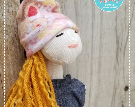 Fabric Doll Handmade Soft doll blonde doll rag doll poupees Muñecas