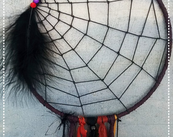 Halloween dream catcher spider web dreamcatcher black dreamcatcher halloween wall hanging