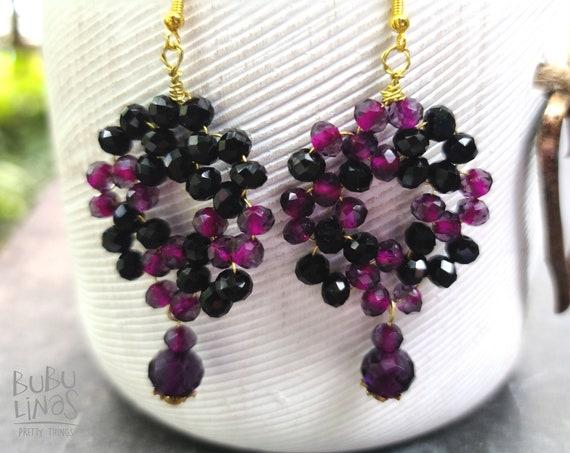 Halloween beaded earrings for women