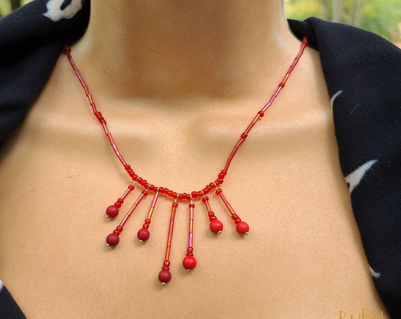 Red Blood Dripping Necklace