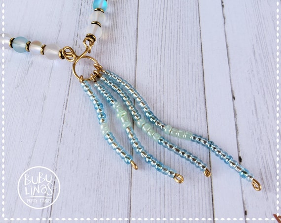 Summer Jewelry, Beach Necklace, Statement Necklace, Blue beads