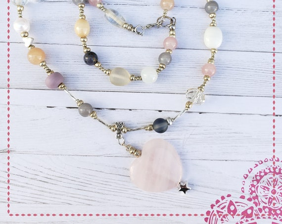 Bohemian Necklace, Boho Jewelry, Hippie Jewelry, Statement Necklace, White necklace