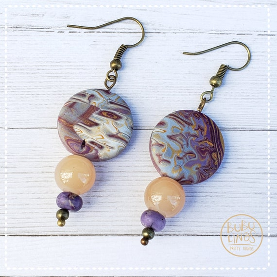 Fall polymer clay earrings