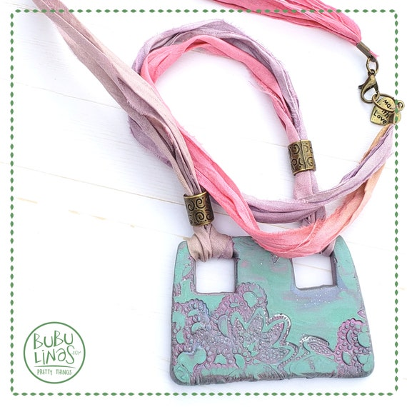 Polymer Clay Square Necklace