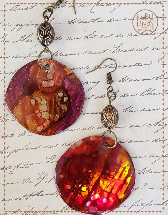 Boho Earrings, Bohemian Earrings, Hippie Jewelry, Colorful Jewelry
