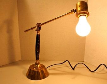 Brass desk lamp   Etsy