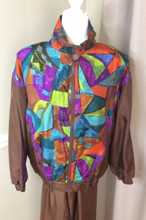 Vintage Anley Collection silk jogging lounge suit