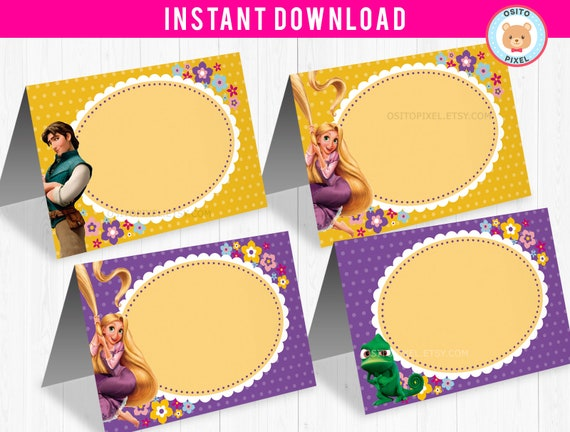 Food Labels Tangled Rapunzel Instant Download Tangled Etsy