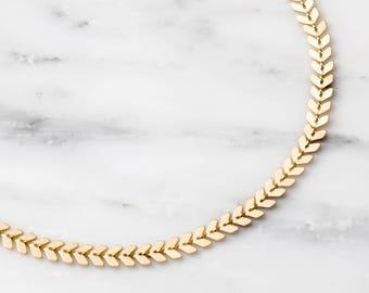 Gold Chevron Choker / Thick Gold Choker / Gold Arrow Choker / Silver Statement Choker / Gold Choker Necklace / Boho Choker / Dainty Choker