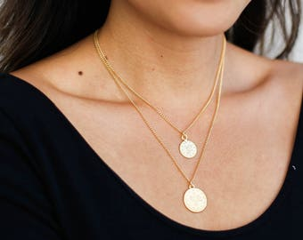 Coin necklace etsy gold coin necklace set turkish coin necklace ottoman coin necklace gold disc necklace medallion round pendant everyday jewelry aloadofball Images