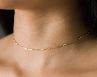 08822cc18d8 Dainty Shimmer Gold Choker Necklace / Simple Gold Necklace / Gold Filled  Everyday Necklace / Minimal Necklace / Boho Necklace / Gift For Her