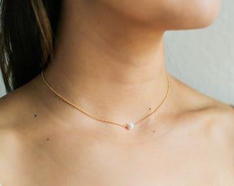 Dainty Opal Choker Necklace / Delicate Opal Necklace / Opal Layering Necklace / Bridesmaid Necklace