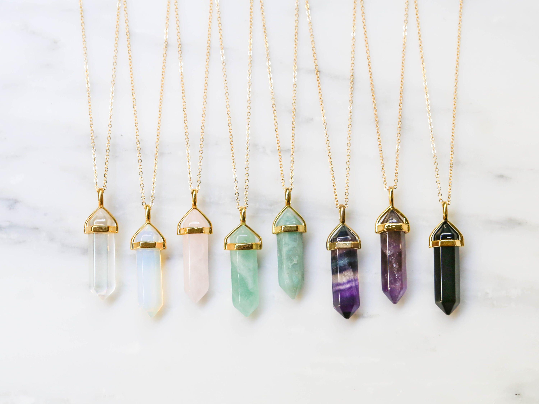 2f941f69c9ef5 Amethyst Crystal Necklace / Boho Crystal Necklace / Raw Healing Necklace /  Crystal Point Pendant / Amethyst Necklace / Healing Crystal
