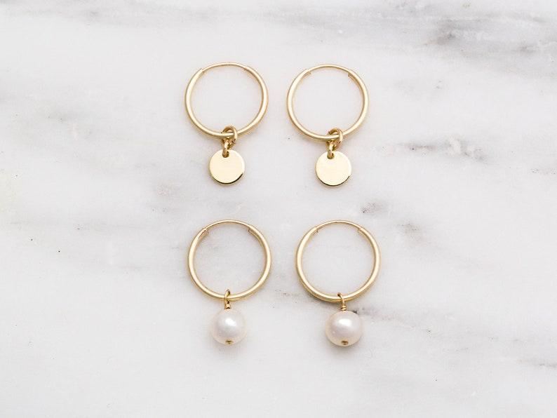 691157edec1c9 Dainty Hoop Earrings / Tiny Gold Hoop Earrings / Mini Hoop Earrings / Gold  Filled Small Hoop Earrings / Gold Tiny Hoops / Gift for Her