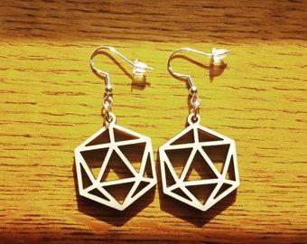 Handmade D20 Earrings