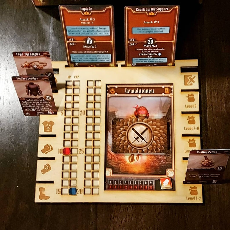 Handmade Gloomhaven Jaws of the Lion Wooden Player Dashboards image 1