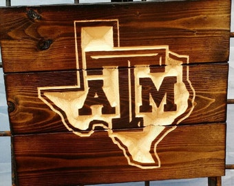 Carved Texas A&M Aggie FREE SHIPPING in the USA