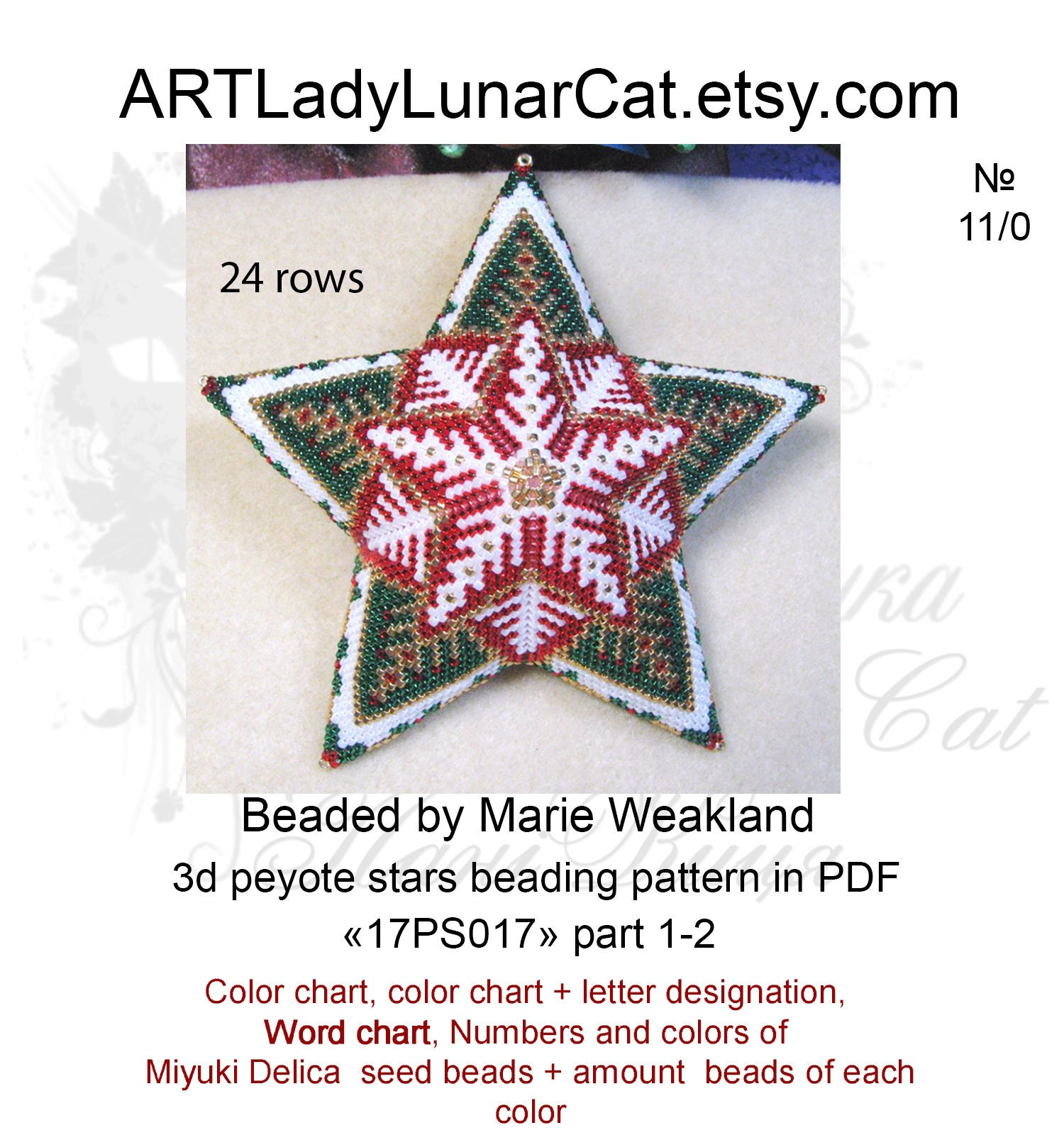 photo relating to Printable Seed Bead Size Chart named peyote graph paper for delica beads -