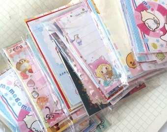 Mystery San-x q-lia KAMIO  KAwaii sticker flake MEMO stationary sanrio lot  60