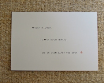 card (missing you)
