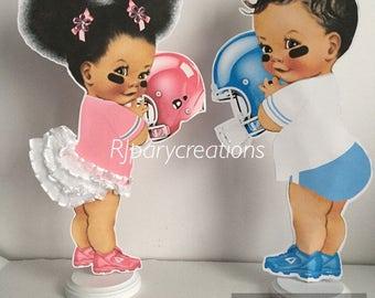 Football Baby Girl Centerpiece
