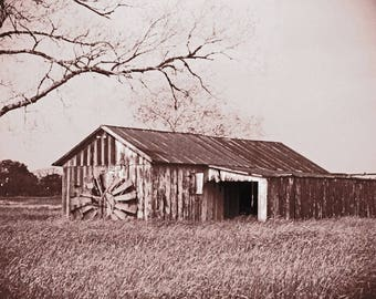 Vintage wooden barn, rustic barn, fine art photograph, photography print, barn photo, landscape photography, whimsy photography