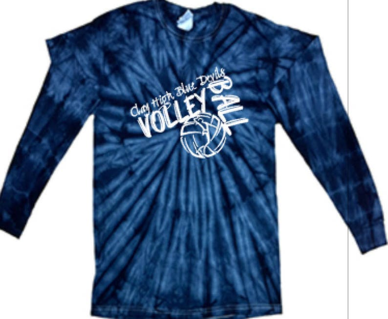 21b88627482e Clay High Volleyball Tie Dye Long Sleeve | Etsy
