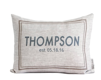 Personalized Housewarming Gift, New Home, Wedding Gift, Linen Pillows, Anniversary Gift, Gift for Him, Gift for Her