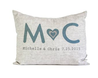 Personalized Gift for Her, Gift for Him, Housewarming Gift, Wedding Gift,  4th Anniversary, Wedding Gift, Rustic Linen