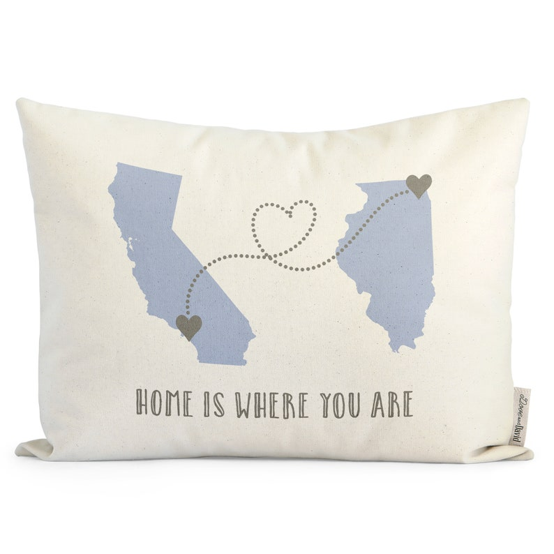 Customized Long Distance Relationship Pillow Romantic Gift image 1