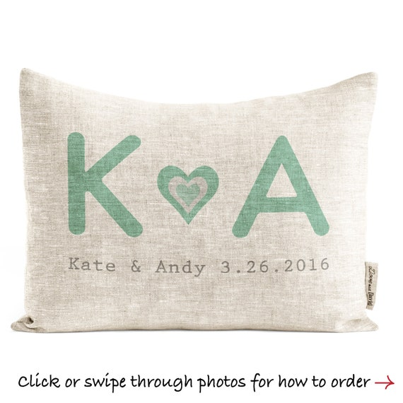 Rustic Linen Custom Pillow Gift for Couple Gift For Women  dc3158a783