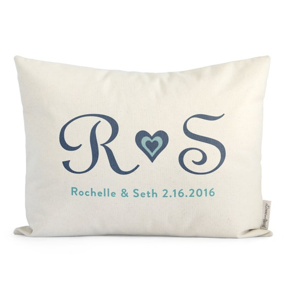 Customized Initials Pillow Gift For Girlfriend Gift For Etsy