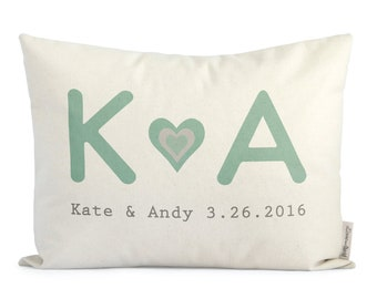 Personalized Gift for Her, Unique 2nd Anniersary Gift, Cotton Anniersary, Gift for Him, Personalized Throw Pillows, Insert Included