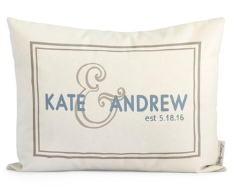 Unique Gift For Couple, Housewarming Pillow, Hostess Gift, Anniversary, Wedding Gift, Cotton, Gift For Girlfriend, Holiday Gift