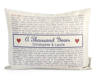 Unique Custom Song Lyric Pillow, Personalized Lyrics Pillow, 2nd Anniersary, Cotton Anniersary, Custom Pillow, Cute Gift For Boyfriend
