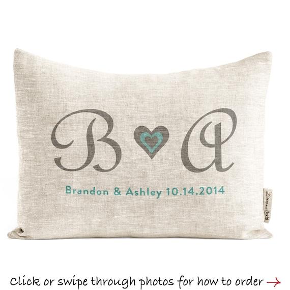 Customized Linen Wedding Gift Unique Custom Pillow Etsy